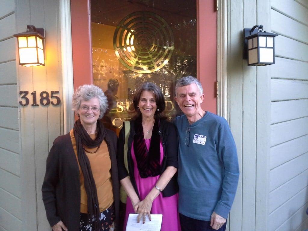 Robina Page, Alexandra ter Horst and Oswald Norton Sept 27, 2014
