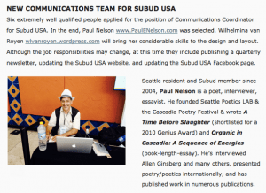 Paul Nelson Subud USA Communications Coordinator