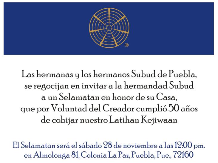 Subud Puebla at 50